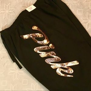 NEW Victoria Secret PINK Sequin Classic Pant